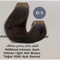 Maxx Deluxe 100 ml Saç Boyası Yoğun Küllü Açık Kumral 8.11