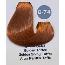 Maxx Deluxe 100 ml Saç Boyası Altın Pırıltılı Toffe 8.74