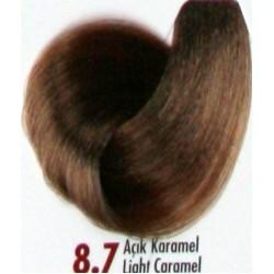 Daniela Saç Boyası 60ML Açık Karamel ( 8.7 )