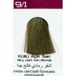 Lilafix Saç Boyası 60ML Küllü Açık Sarı ( 9-1 )
